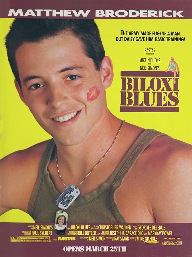 1988 Biloxi Blues Vintage Movie Poster Photograph By Robert Kinser