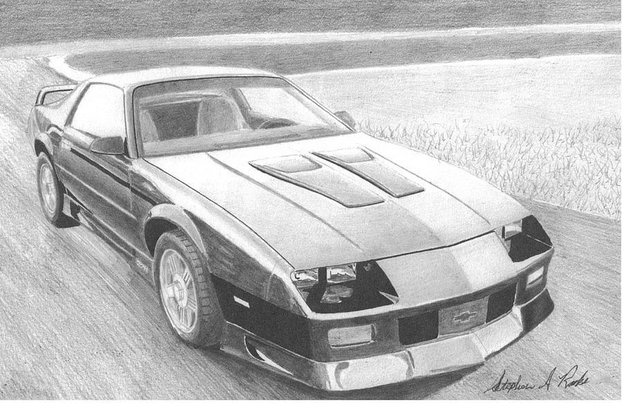 Chevrolet Camaro Classic Car Art Print Mixed Media By