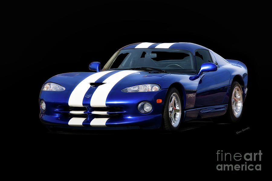 Auto Photograph - 1995 Dodge Viper Coupe I by Dave Koontz