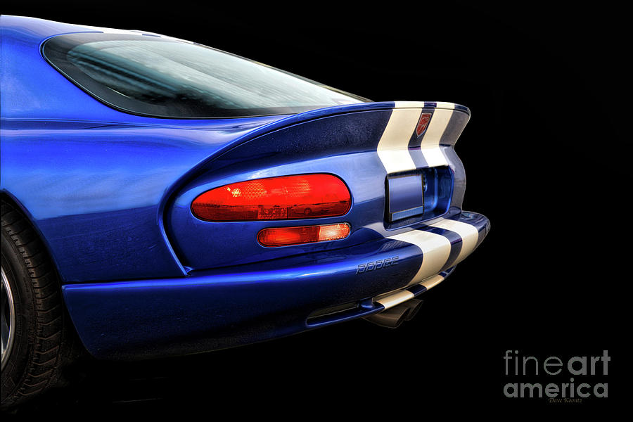 Auto Photograph - 1995 Dodge Viper Coupe tail by Dave Koontz