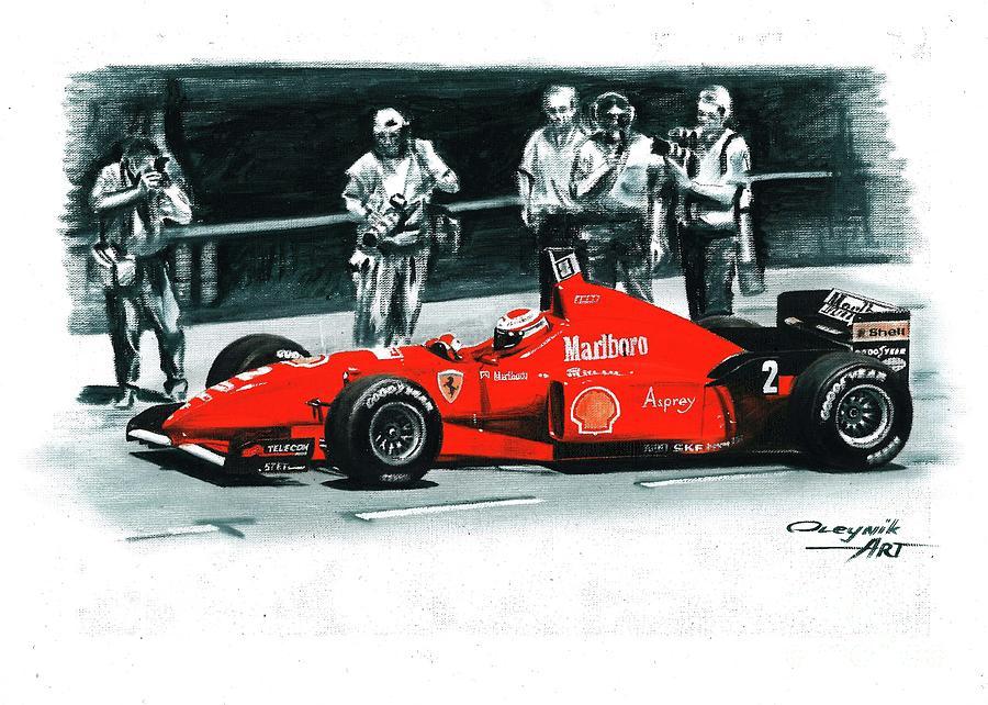 1996 Ferrari F310 Painting By Artem Oleynik