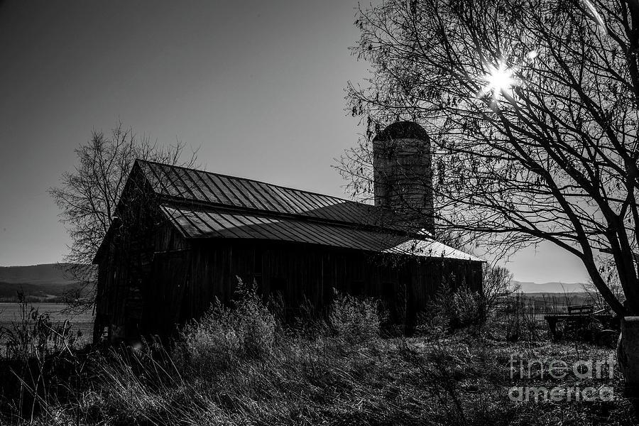 19th Century Barn In Bw Photograph