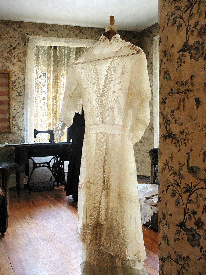 Wedding Dress Photograph - 19th Century Wedding Dress by Susan Savad