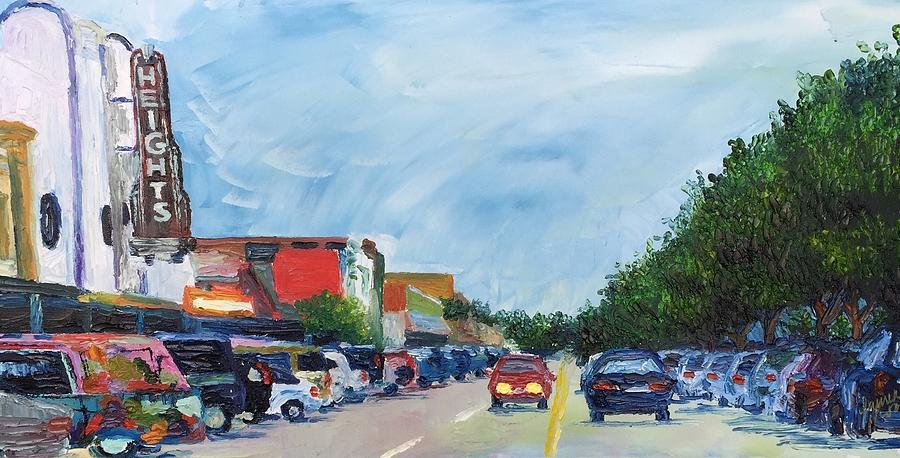 City Painting - 19th St Houston Heights TX by Lauren Luna