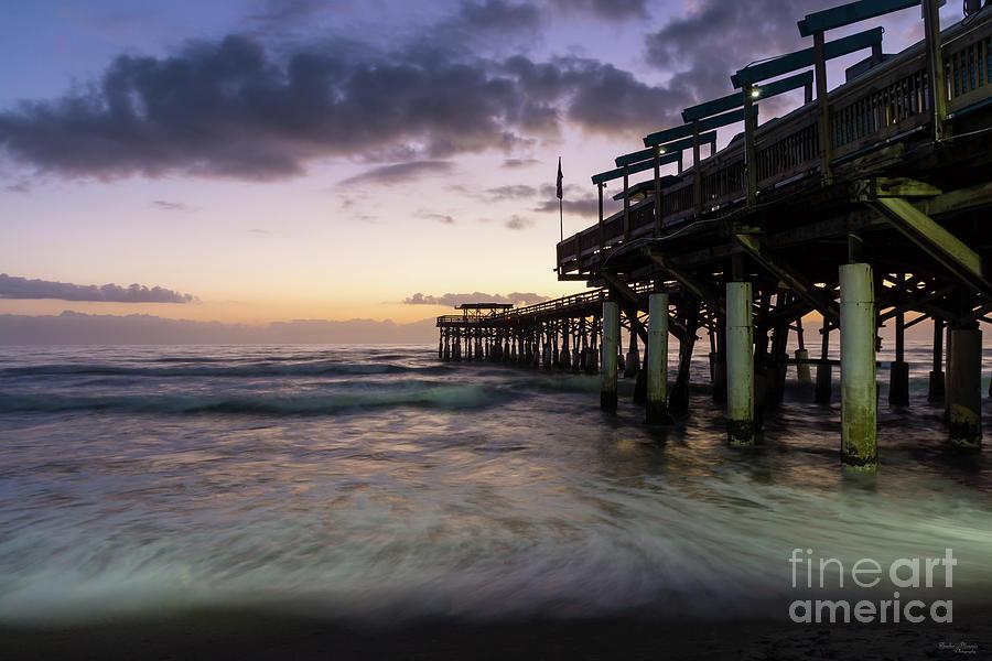 America Photograph - 1st Dawn Cocoa Pier by Jennifer White