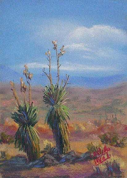 Yuccas Painting - 2 - 4 - 1 by Jo Castillo