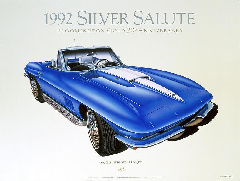 Cars Painting - 67 Corvette by Hugo Prado