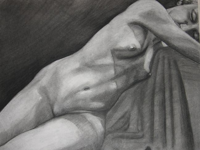 Charcoal Drawing - Charcoal Nude  by David Corrigan