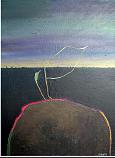 Hombre Que Mira Al Suelo Painting by Victor Varela