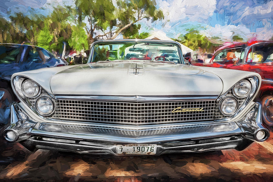 1959 Lincoln Continental Town Car Mk Iv Painted Painting By Rich Franco