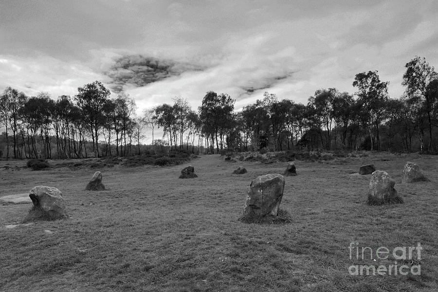 Stanton Moor Photograph - 9 Ladies Stone Circle, Stanton Moor, Peak District National Park by Dave Porter
