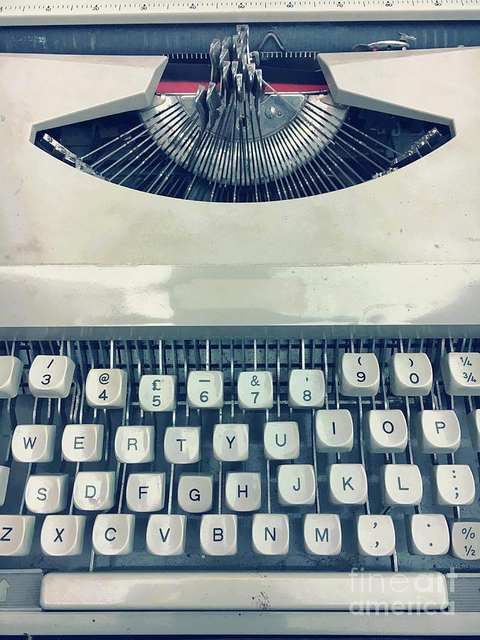 Alphabet Photograph - A Vintage Typewriter 2 by Tom Gowanlock