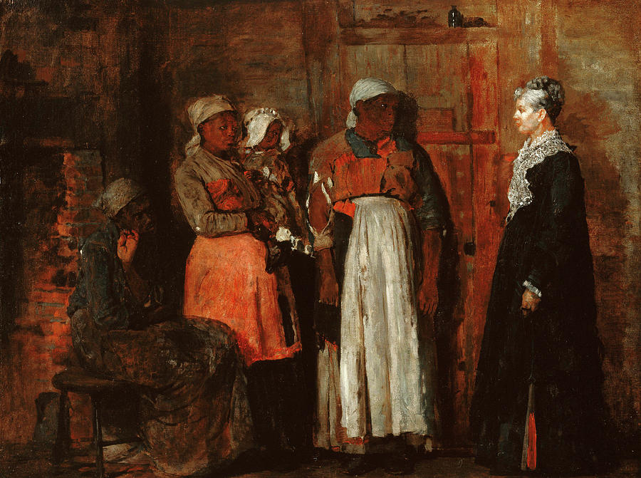 Visit Painting - A Visit From The Old Mistress by Winslow Homer