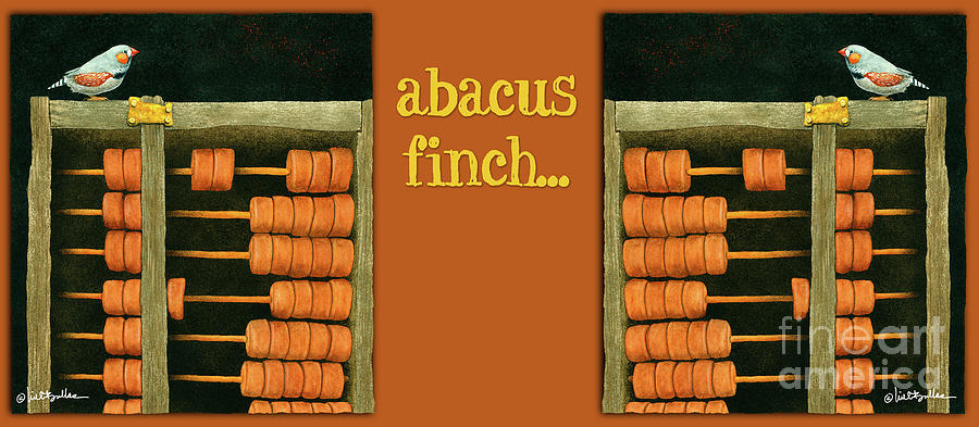Will Bullas Painting - Abacus Finch... by Will Bullas