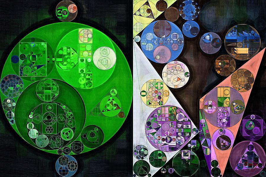 Mosaic Digital Art - Abstract Painting - Swirl by Vitaliy Gladkiy
