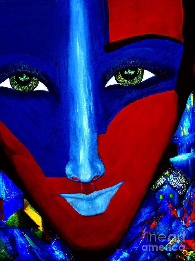 Abstract Face Painting - Abstract Three by Patricia Motley