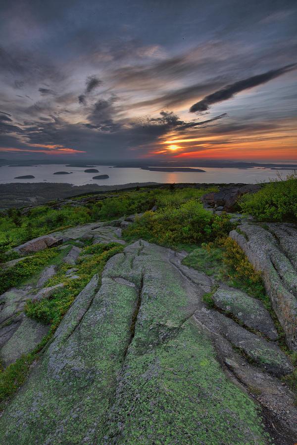 Maine Photograph - Acadia Sunrise by Stephen  Vecchiotti