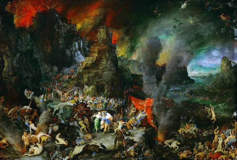 Aeneas and Sibyl in the Underworld Painting by Jan Brueghel the Elder