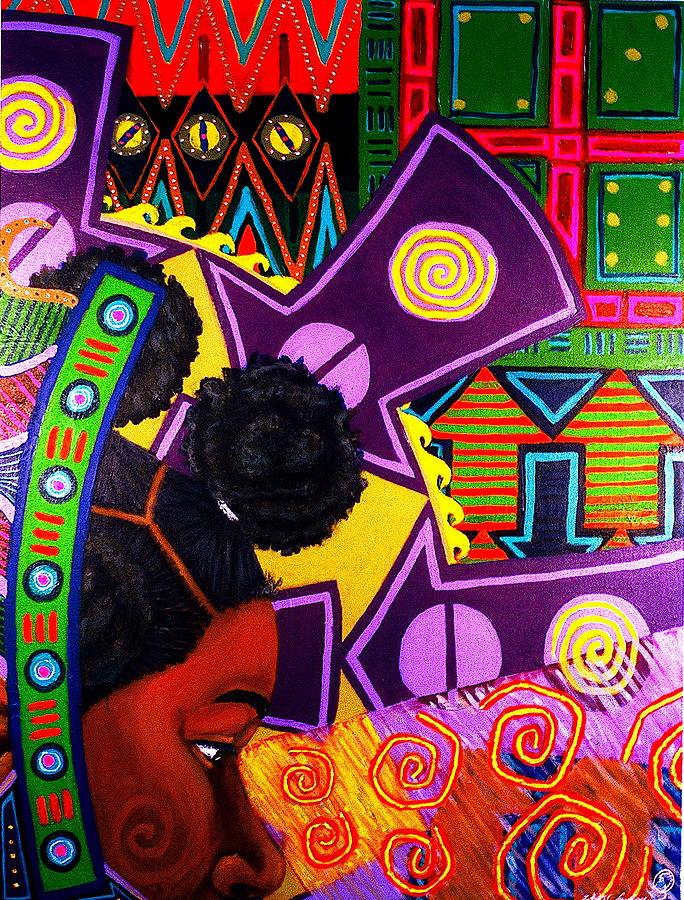 Malik Painting - Aesthetic Ascension series by Malik Seneferu