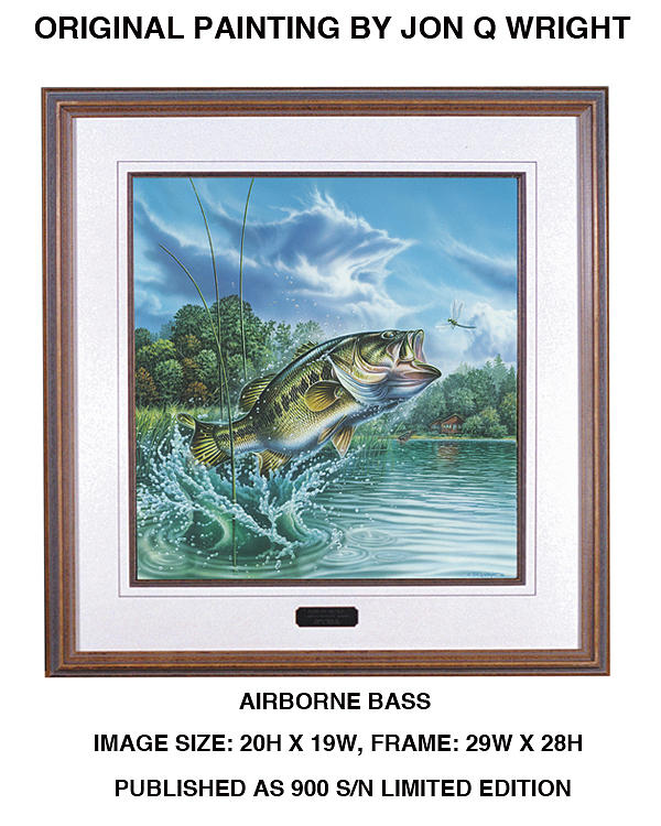 Jon Q Wright Painting - Airborne Bass by JQ Licensing