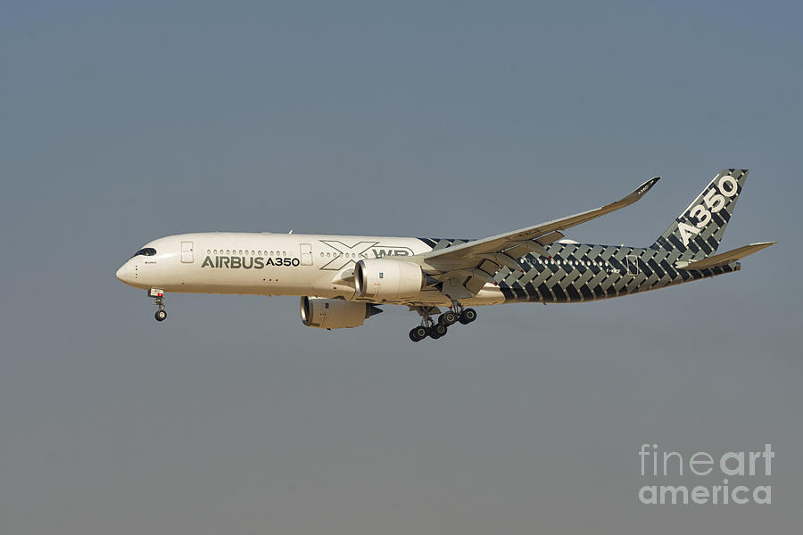 Airbus Photograph - Airbus A350 At Dubai Air Show, Uae by Ivan Batinic