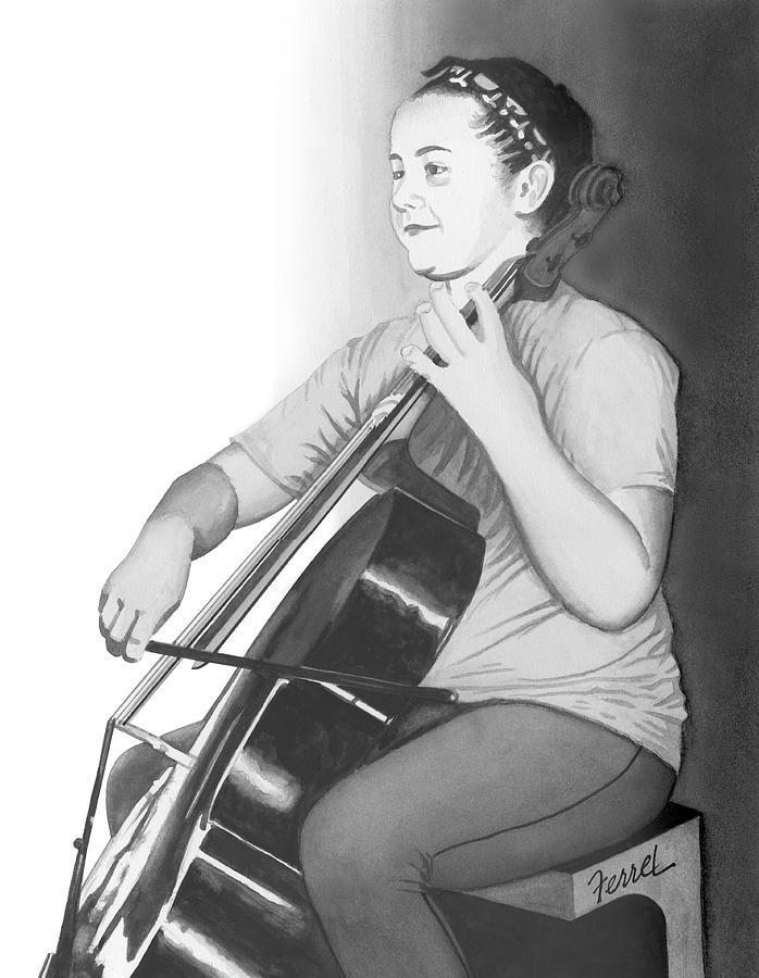 Music Painting - Alaina by Ferrel Cordle
