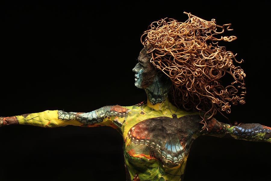 Sculpture Mixed Media - Alight A Sculpture By Adam Long by Adam Long
