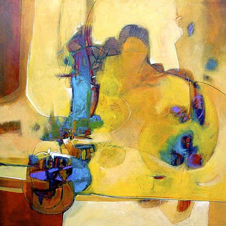Abstract Painting - Amarillo by Dale  Witherow