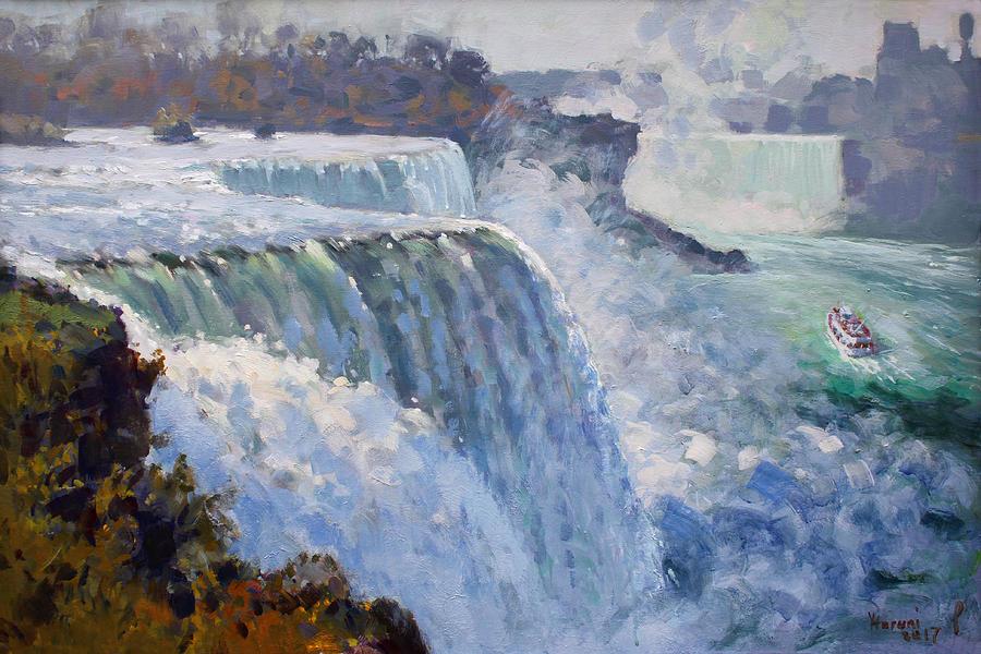 American Falls Painting - American Falls by Ylli Haruni