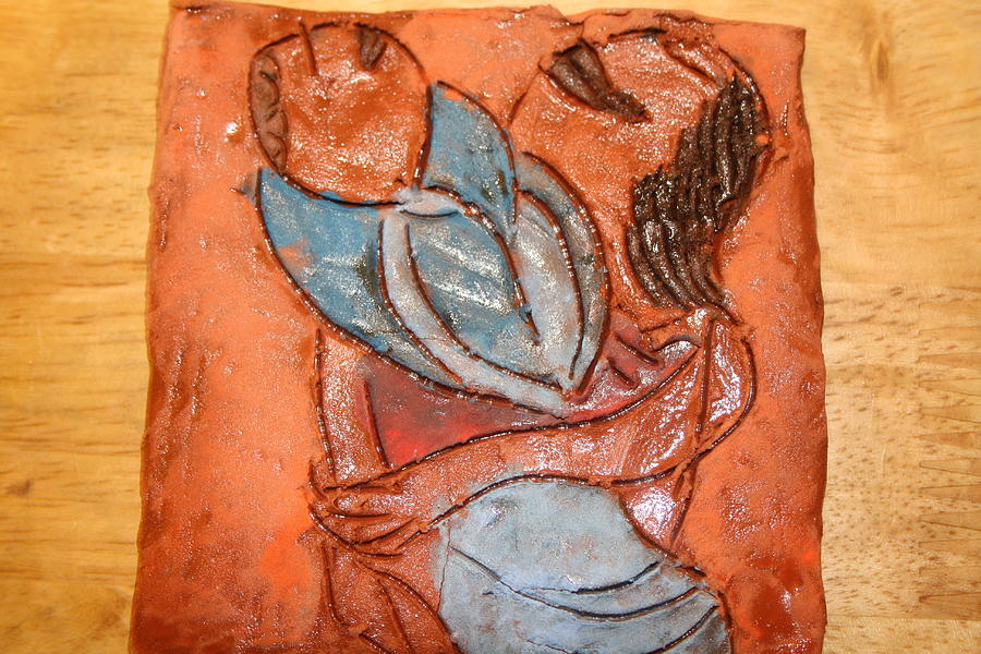 Jesus Ceramic Art - Amuweese - Tile by Gloria Ssali