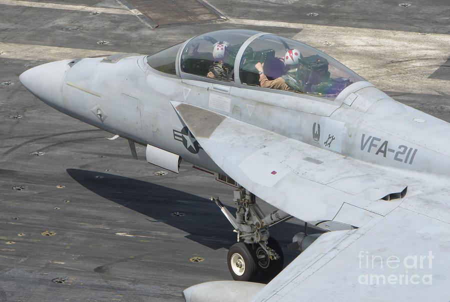 An Fa-18f Super Hornet On The Flight Photograph