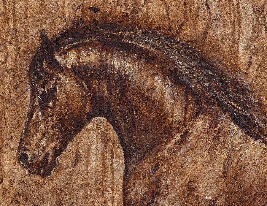 Horse Painting - Ancient Glory by Paula Collewijn -  The Art of Horses