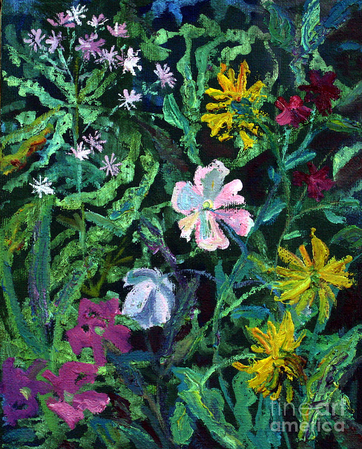 Flowers Painting - Anemones by Katia Weyher
