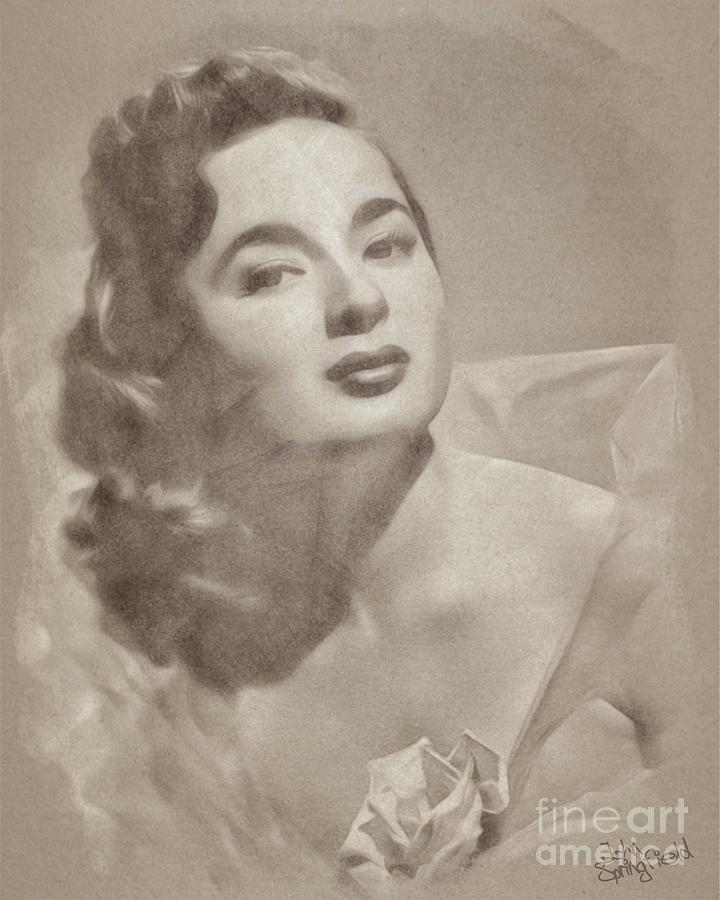 Ann Blyth, Vintage Actress Drawing