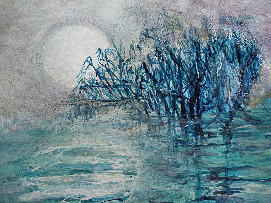 Moon Painting - another  Moon river by Mary Sonya  Conti