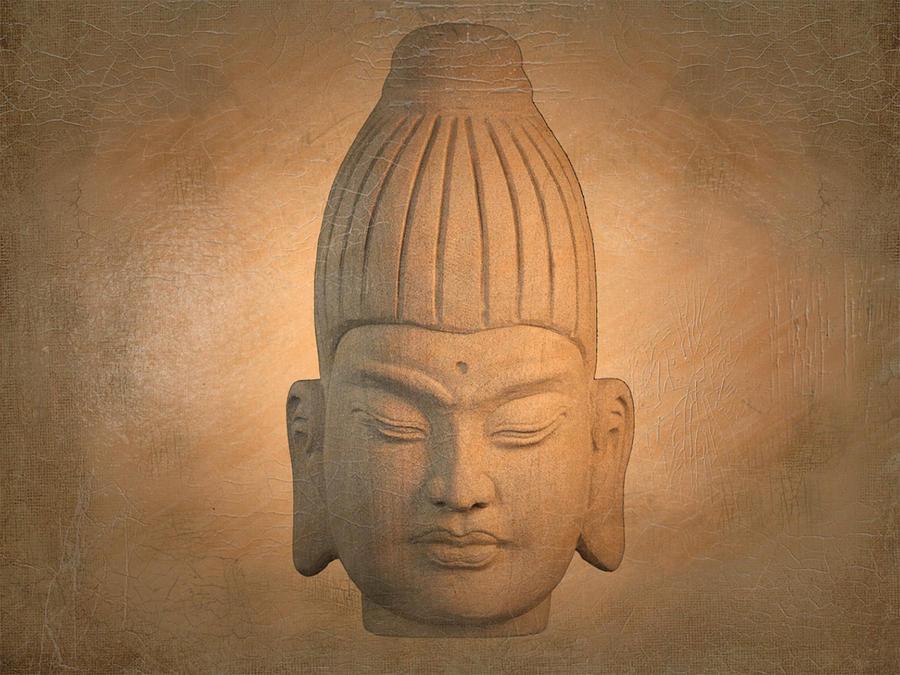 Antique Photograph - antique oil effect Buddha Burmese.. by Terrell Kaucher