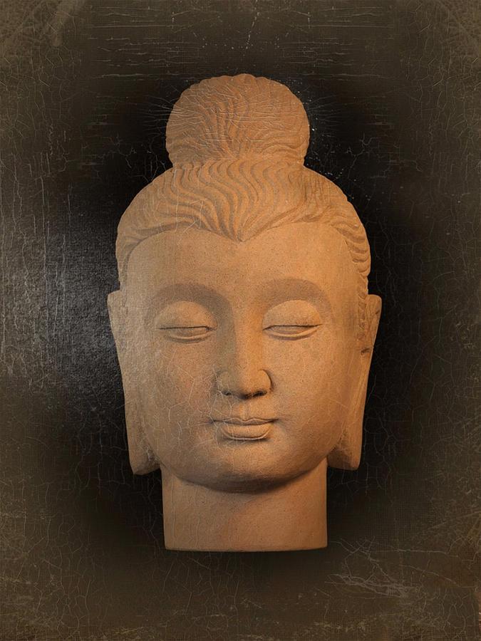 Antique Photograph - antique oil effect Buddha Gandhara.. by Terrell Kaucher
