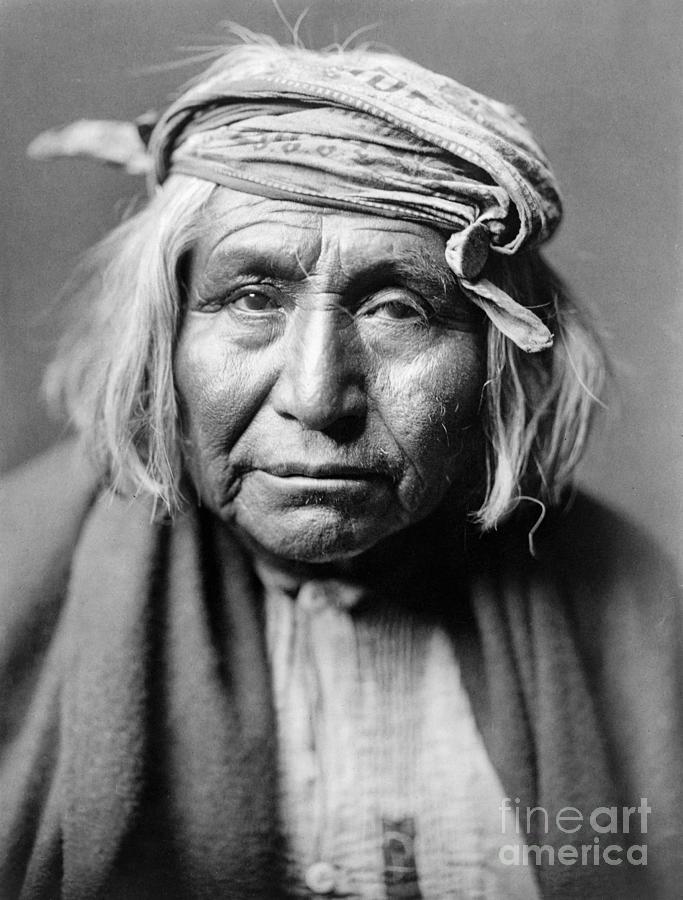 1906 Photograph - Apache Man, C1906 by Granger