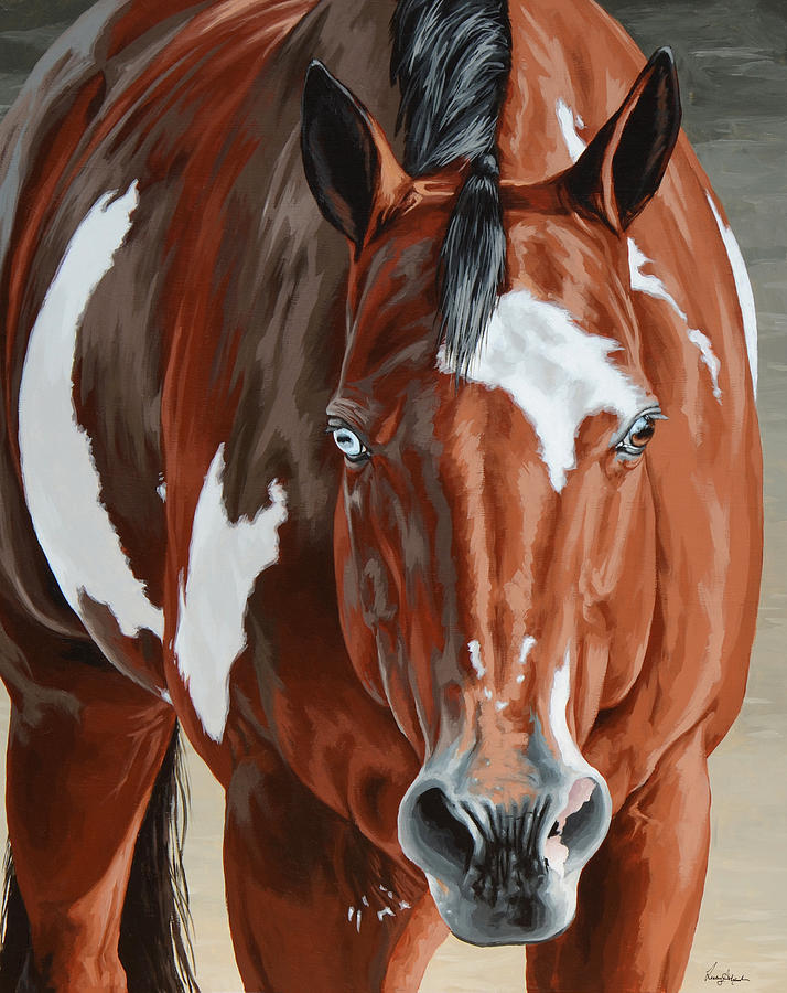 Horse Painting - Apollo by Lesley Alexander