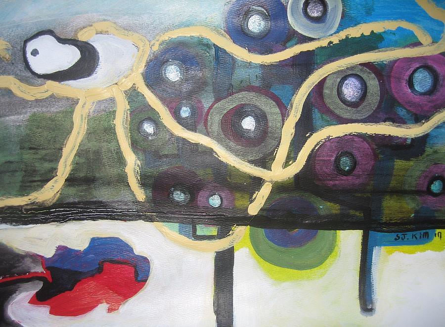 Apple Trees Painting by Seon-Jeong Kim
