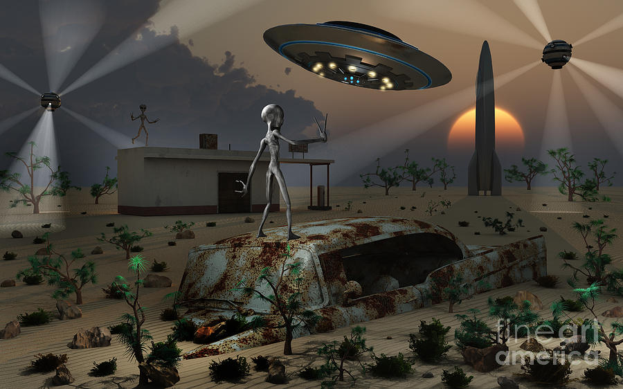 Imagination Digital Art - Artists Concept Of A Science Fiction by Mark Stevenson