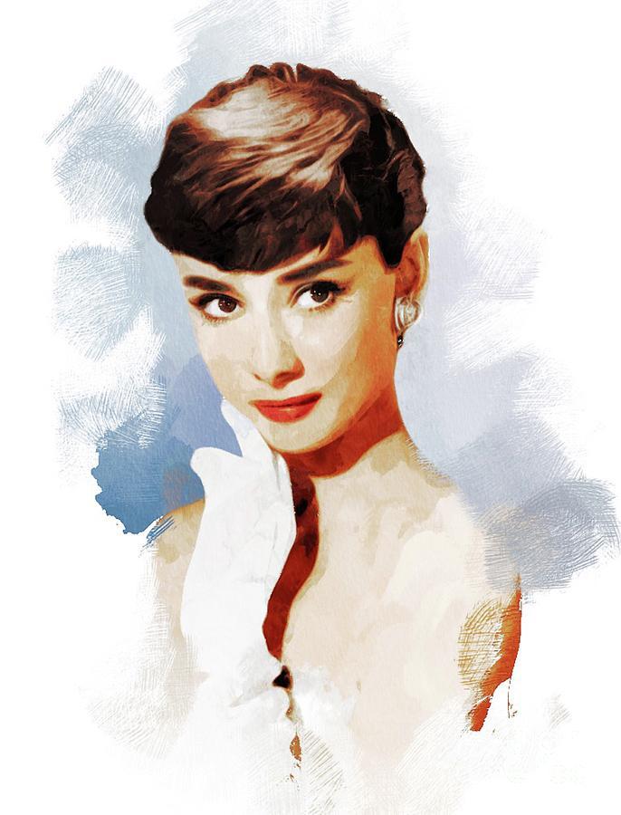 Audrey Hepburn, Actress Painting