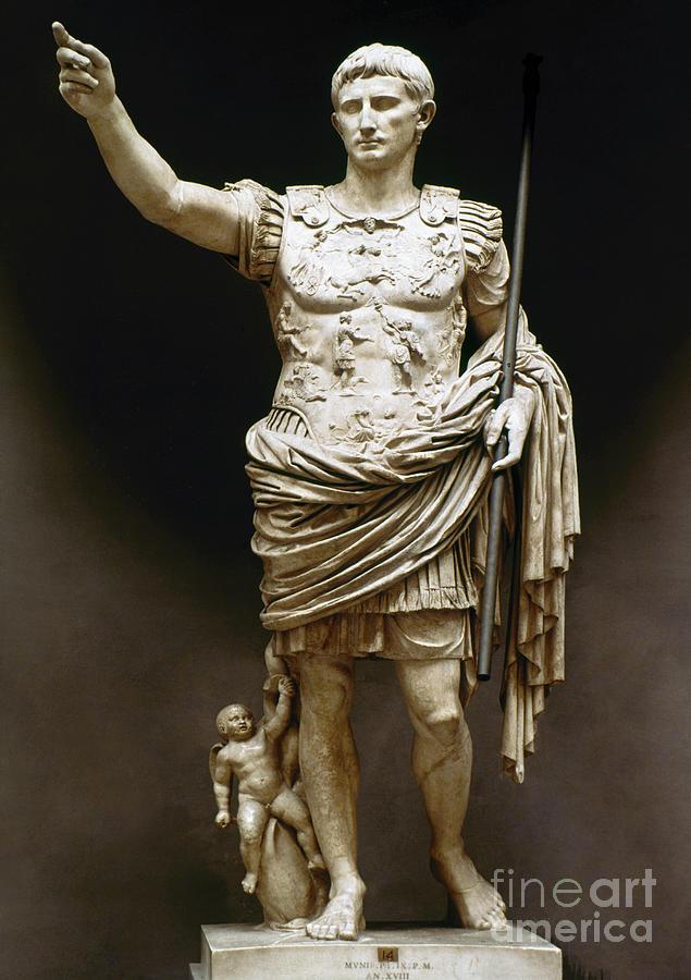 Ambition Photograph - Augustus (63 B.c.-14 A.d.) by Granger