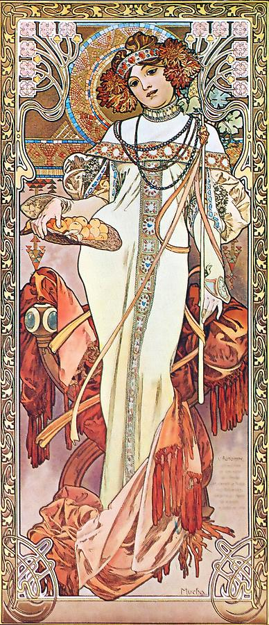 Autumn Painting by Alphonse Mucha