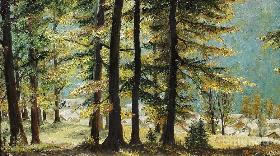 Autumn In Azuga Painting