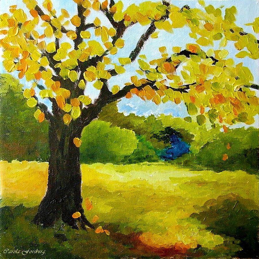 Landscape Painting - Autumn Landscape by Carola Ann-Margret Forsberg