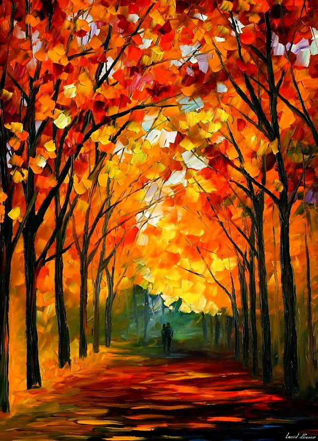 Landscape Painting - Autumn by Leonid Afremov