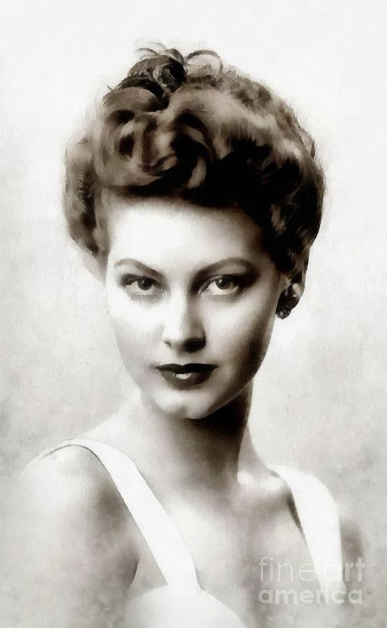Ava Gardner, Vintage Actress Painting