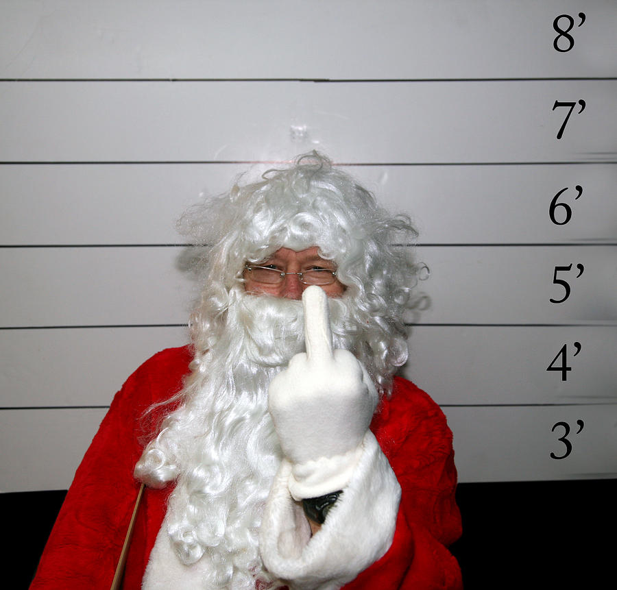 Bad Santa Photograph - Bad Santa by Michael Ledray