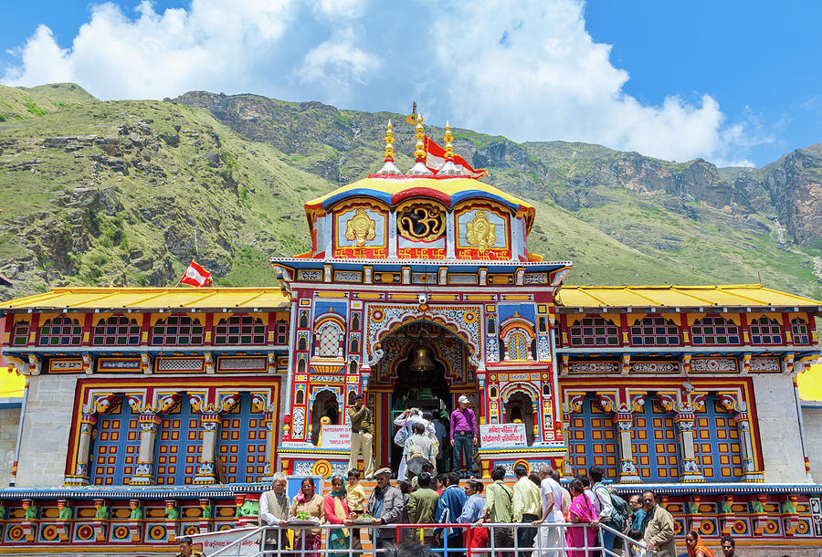 Badrinath Temple, Uttarakhand, India Photograph by Nila Newsom